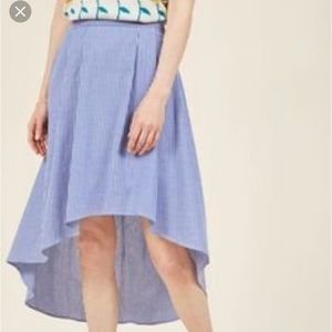 NWOT ModCloth Magnificent Movements Chambray Skirt